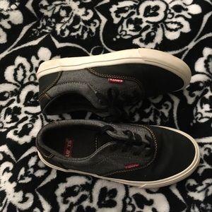 Levi's Coated Denim Casual Shoes Boys Sz 2Y